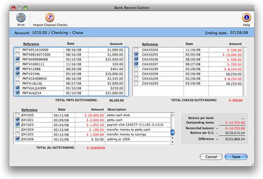 clients profits x user guide bank reconciliation