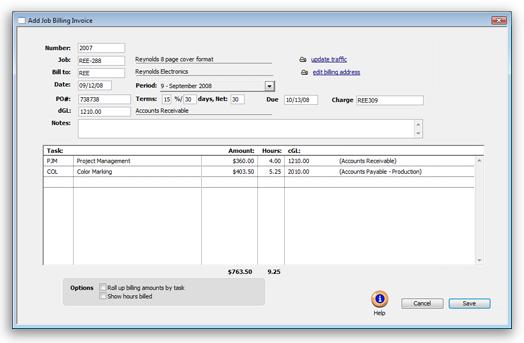Clients Profits X User Guide Job Billing – Billing Invoice